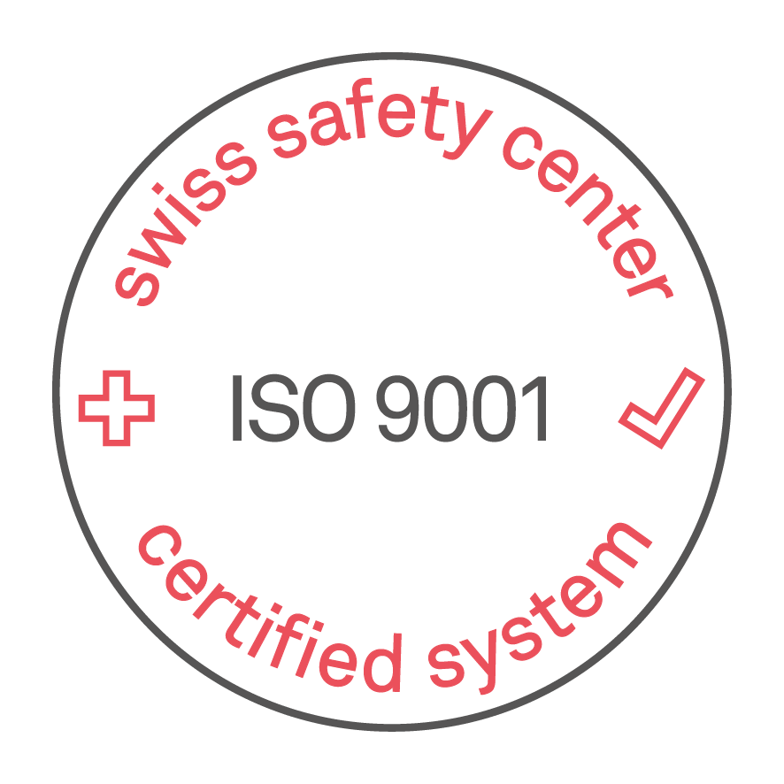 ISO 9001 Certification by SWISS TS